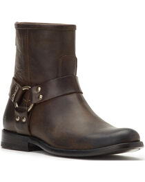 Frye Women's Smoke Phillip Harness Short Boots - Round Toe , , hi-res