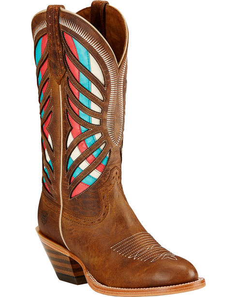 Ariat Women's Gentry Performance Riding Boots, Tan, hi-res