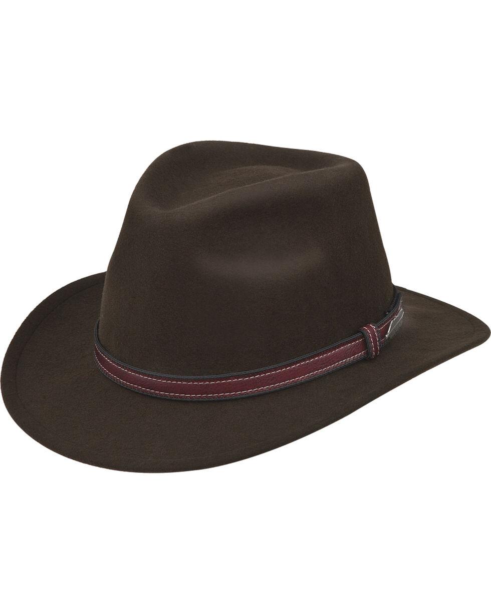 Black Creek Men's Wool Dimensional Brim Hat , Olive, hi-res