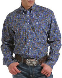Cinch Men's Paisley Print Long Sleeve Shirt, Multi, hi-res