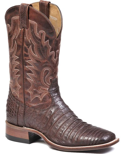 "Boulet Men's 12"" Matte Caiman Belly Stockman Boots, , hi-res"