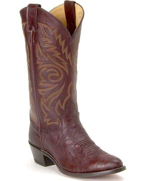 "Justin Men's 13"" Deerlite Western Boots, Dark Brown, hi-res"