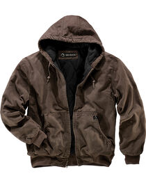 Dri Duck Men's Cheyenne Hooded Work Jacket - Tall Sizes (XLT - 2XLT), Brown, hi-res