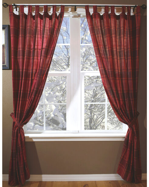 Carstens Sagamore Lake Placid Drapes, Red, hi-res