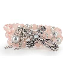 Shyanne® Women's Vintage Cross Coil Bracelet, , hi-res