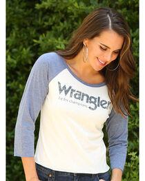 Wrangler Women's Fit For Champions Logo Baseball Tee, , hi-res