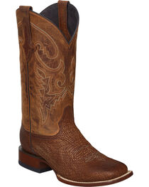 Lucchese Cognac Ryan Shark Cowboy Boots - Square Toe , , hi-res