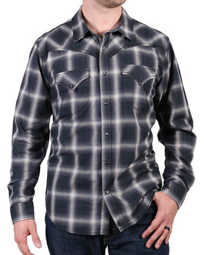 Cody James® Men's Pyrite Plaid Long Sleeve Shirt, Black, hi-res