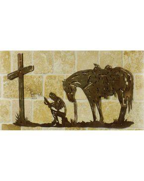 Cowboy Prayer Metal Wall Art, Brown, hi-res