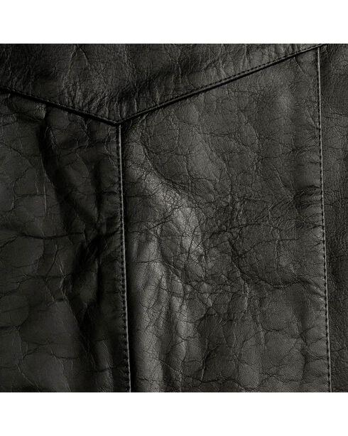 Interstate Leather Men's Motorcycle Leather Vest, Black, hi-res