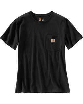 Carhartt Women's Workwear Pocket T-Shirt, Black, hi-res