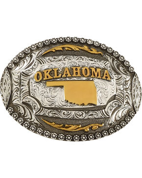 Cody James® Oval Oklahoma Belt Buckle, Multi, hi-res