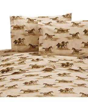 Karin Maki Wild Horses Twin Sheet Set, Brown, hi-res
