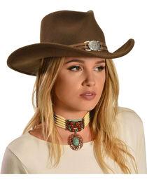 Juniper Brown Wool Felt Cowgirl Hat, , hi-res