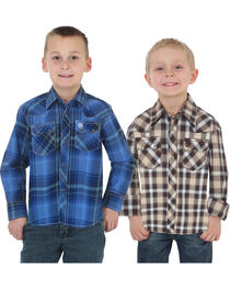Wrangler Boys' Assorted Retro Long Sleeve Shirts , , hi-res