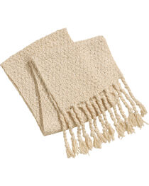Shyanne Women's Knitted Tassel Trimmed Scarf, , hi-res