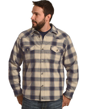 Cody James Men's Bear Creek Long Sleeve Flannel Shirt, Tan, hi-res
