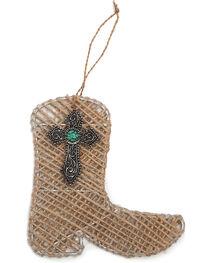BB Ranch Burlap Twine Boot Ornament, , hi-res