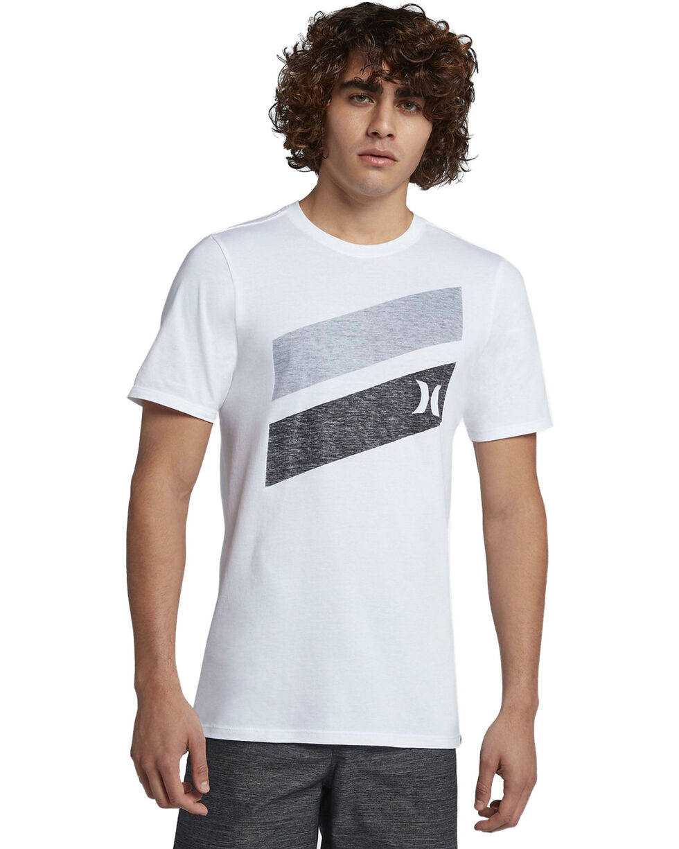 Hurley Men's Icon Slash Push Through T-Shirt, White, hi-res