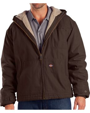 Dickies Hooded Sherpa Lined Work Jacket, Brown, hi-res