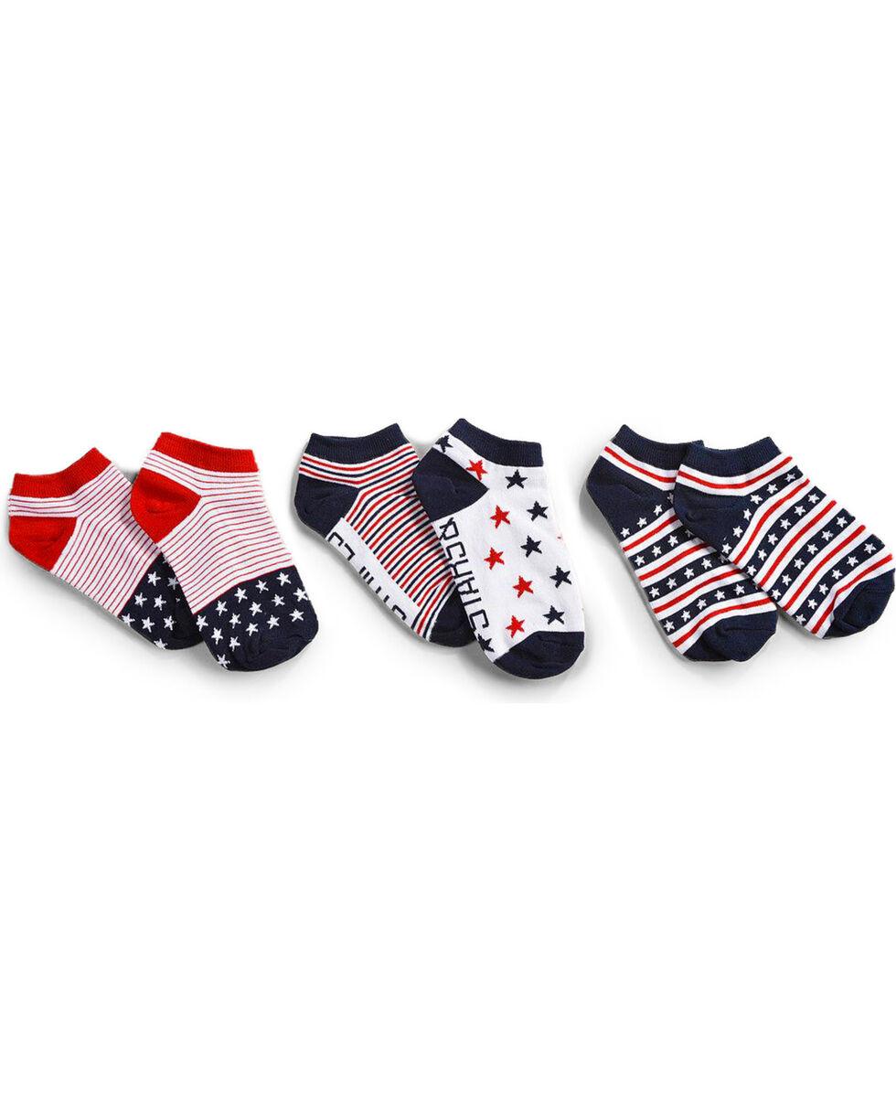 Shyanne Women's Americana No-Show Ankle Socks, Multi, hi-res