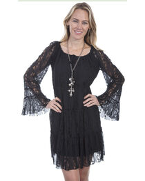 Scully Women's Long Sleeve Lace Tiered Dress, , hi-res