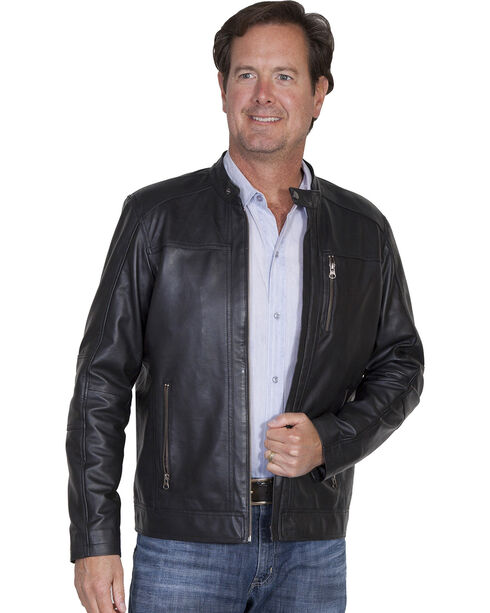 Scully Men's Leather Jacket, Black, hi-res