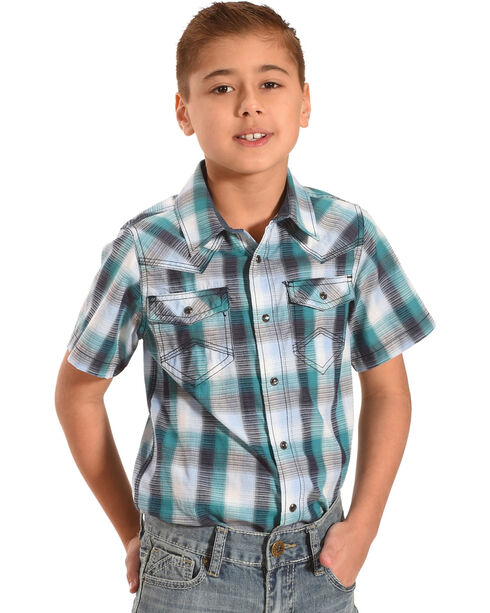 Cody James Toddler Boys' Shotgun Rider Plaid Shirt - (2T-4T), Blue, hi-res