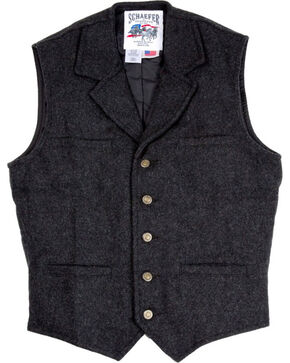 Schaefer Men's 707 McClure Wool Vest - Big & Tall , Dark Grey, hi-res