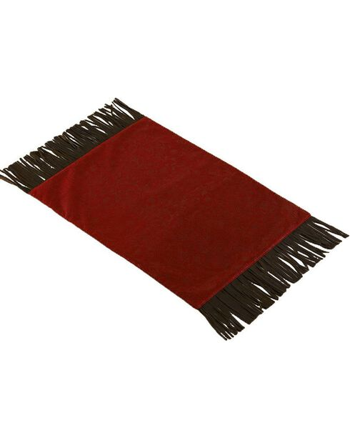 Red Tooled Faux Leather Placemats, Red, hi-res