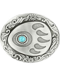 Nocona Bear Paw w/ Faux Turquoise Stone Buckle, , hi-res