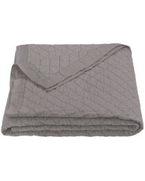 HiEnd Accents Diamond Pattern Grey Linen King Quilt, , hi-res