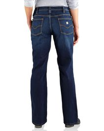 Carhartt Women's Relaxed Fit Dark Indigo Jasper Jeans, , hi-res
