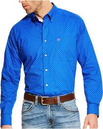 Ariat Men's Blue Boyd Printed Long Sleeve Western Shirt , , hi-res