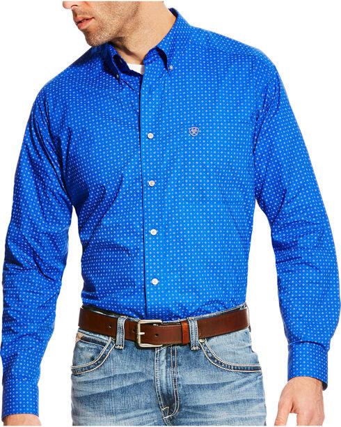 Ariat Men's Blue Boyd Printed Long Sleeve Western Shirt - Tall , , hi-res