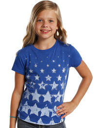 Rock and Roll Cowgirl Youth Stars T-Shirt , , hi-res