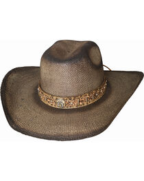 Bullhide Men's Unshucked Gun Straw Western Hat , , hi-res