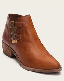 Frye Women's Cognac Ray Belted Booties - Pointed Toe , , hi-res