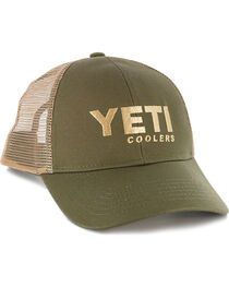 Yeti Men's Olive Green Traditional Trucker Hat , , hi-res