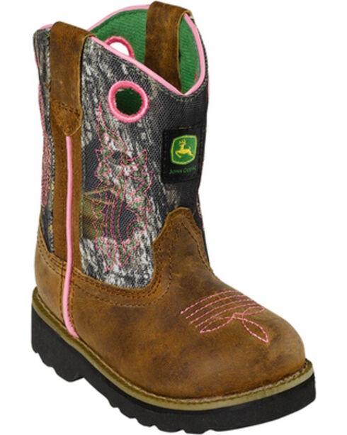 John Deere® Infant's Pink Camouflage Western Boots, Camouflage, hi-res