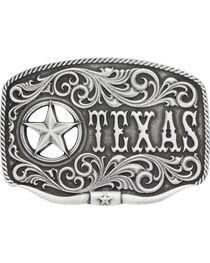 Montana Silversmiths Men's Texas Star Longhorn Attitude Buckle, , hi-res