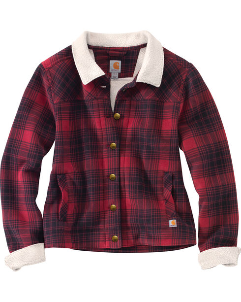 Carhartt Women's Cedar Sherpa Jacket, Red, hi-res