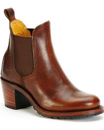 Frye Women's Cognac Sabrina Chelsea Boots - Round Toe , , hi-res