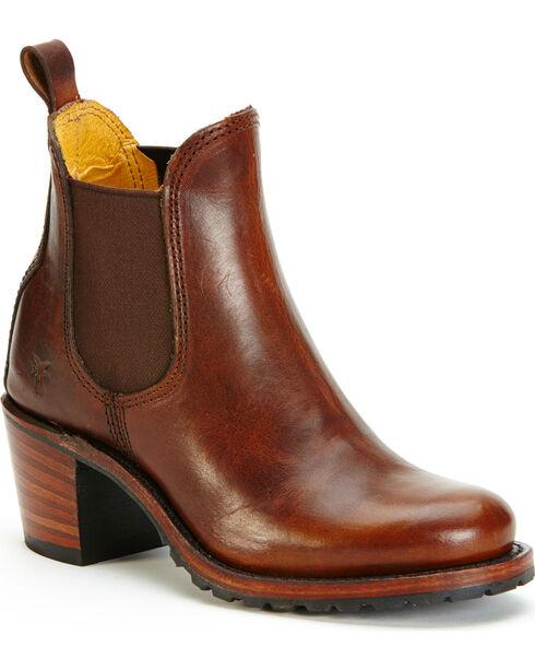 Frye Women's Cognac Sabrina Chelsea Boots - Round Toe , Cognac, hi-res