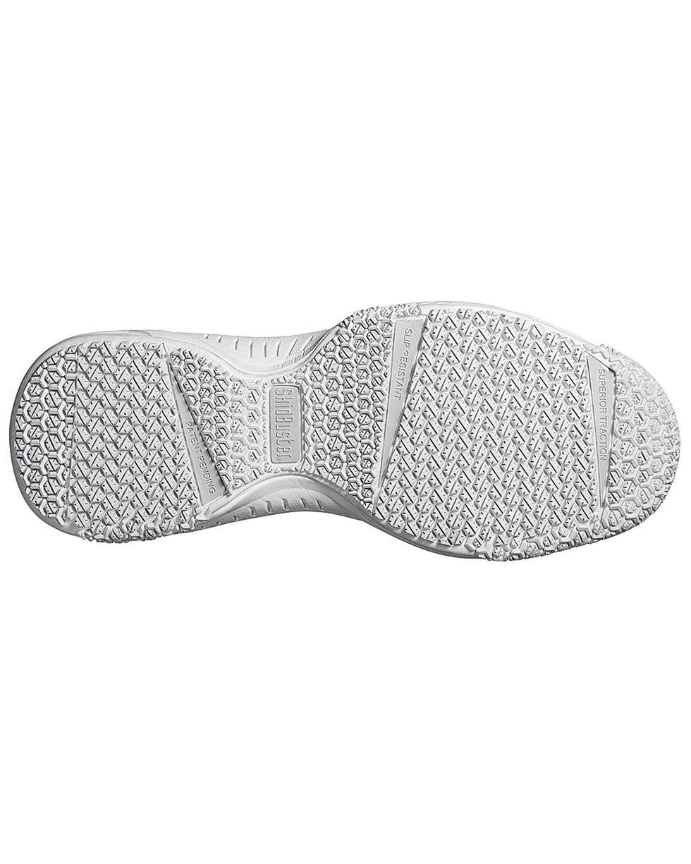 SkidBuster Women's Slip Resistant Work Shoes, White, hi-res