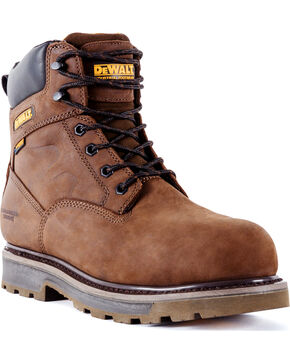 DeWalt Men's Tungsten Waterproof Work Boots - Aluminum Toe, Brown, hi-res