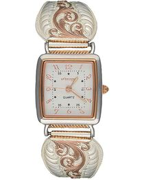 Montana Silversmiths Women's Rose Gold Filigree Watch, , hi-res