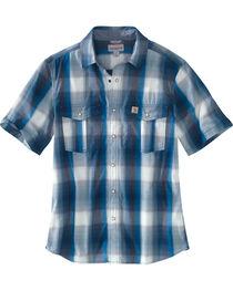 Carhartt Men's Blue Bozeman Short Sleeve Shirt , , hi-res