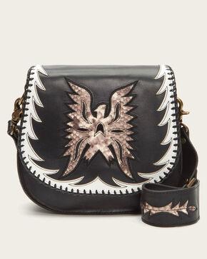 Frye Women's Black Eagle Saddle Bag , Black, hi-res