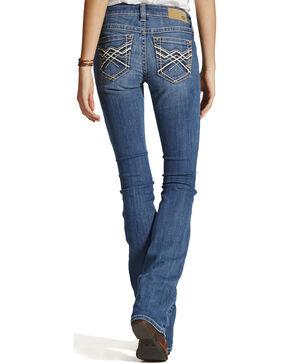 Ariat Women's Turquoise Impression Bootcut Jeans, Blue, hi-res